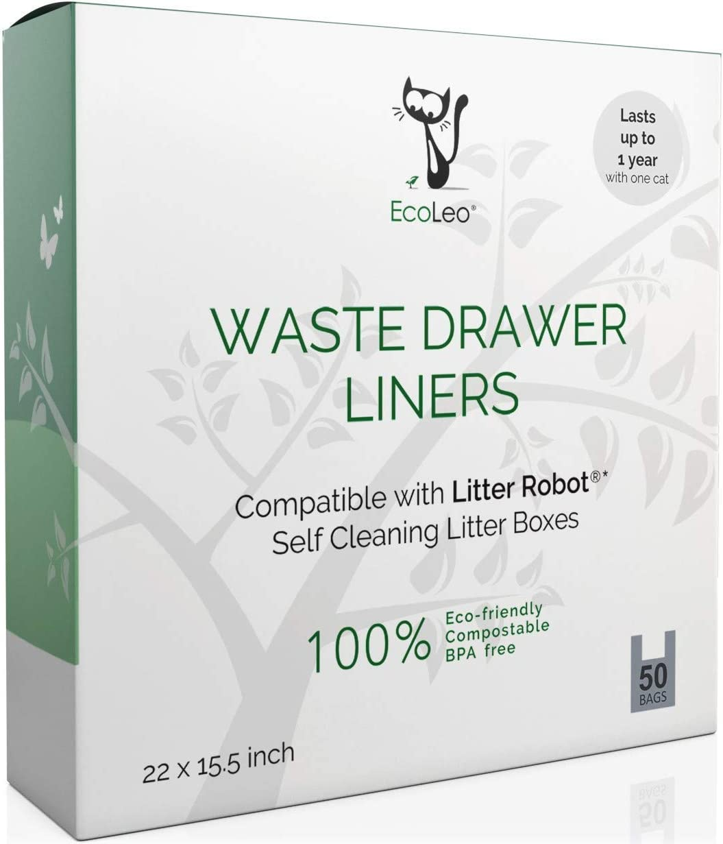 EcoLeo - Bolsas de Basura para cajones de Basura automatizadas para Robots – ecológico, Certificado compostable, Grueso, Duradero: Amazon.es: Productos para mascotas