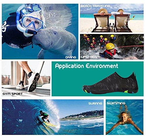 Unisex Wasserschuhe Strandschuhe Leicht Radiowellen Surfschuhe Herren Barfußschuhe Tauchen Schwimmen Badeschuhe Damen Rutschfeste wqxITR