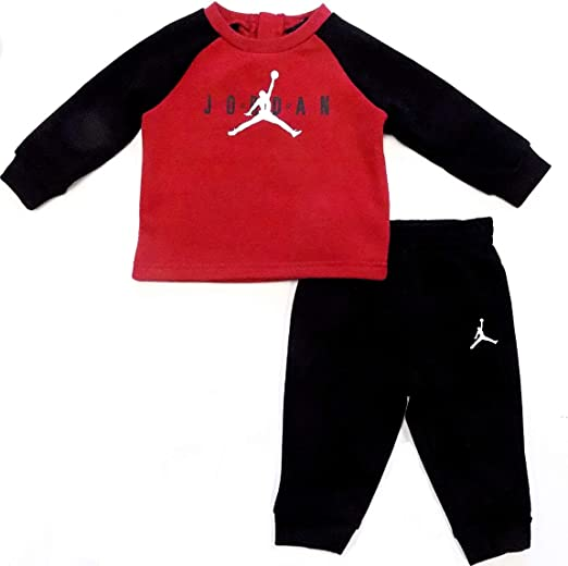 Nike Air Jordan Sudadera Para Nino 2 Piezas Color Rojo Y Negro Rojo Negro 24 Meses Amazon Com Mx Ropa Zapatos Y Accesorios