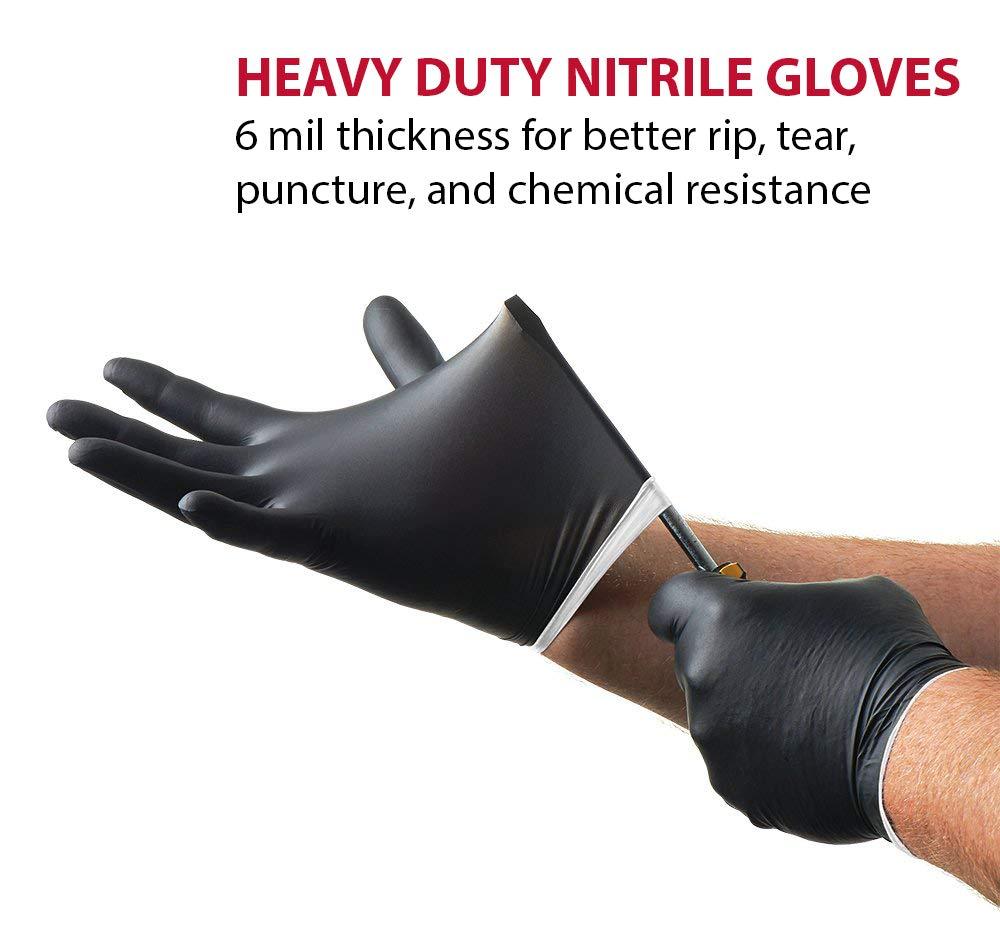 Negro Venom Guantes de nitrilo de acero inoxidable de alta calidad ideal para manejar herramientas pesadas M limpieza y construcci/ón y para tareas de auto 100 paisaje 6 millas