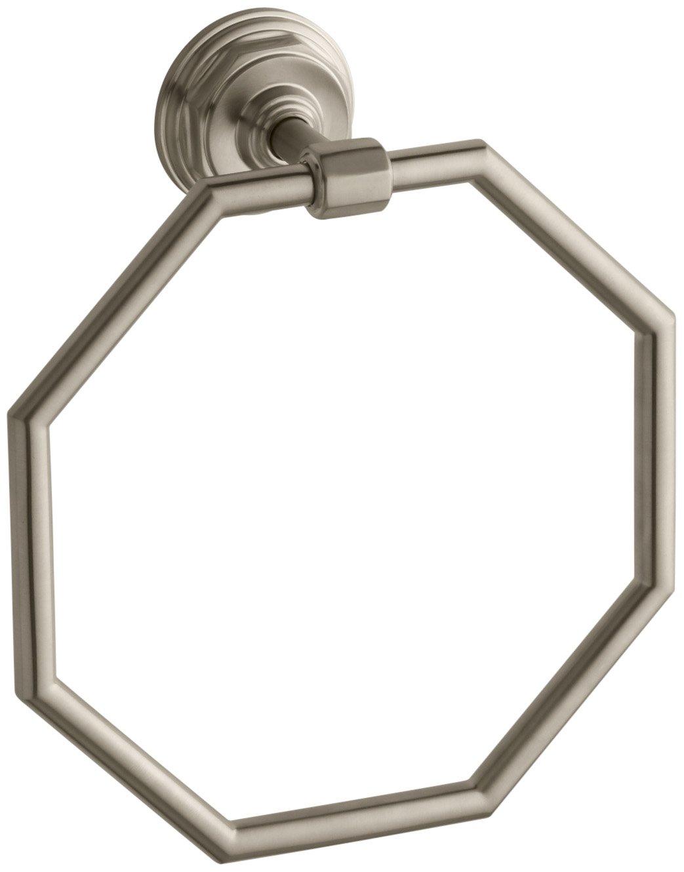 Kohler K-13112-BV Pinstripe Towel Ring, Vibrant Brushed Bronze by Kohler
