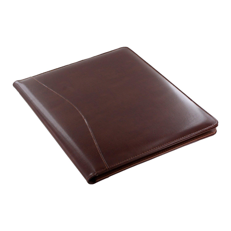 Royce Leather Shiny Leather Writing Portfolio, Writing Pad, Presentation Fold...