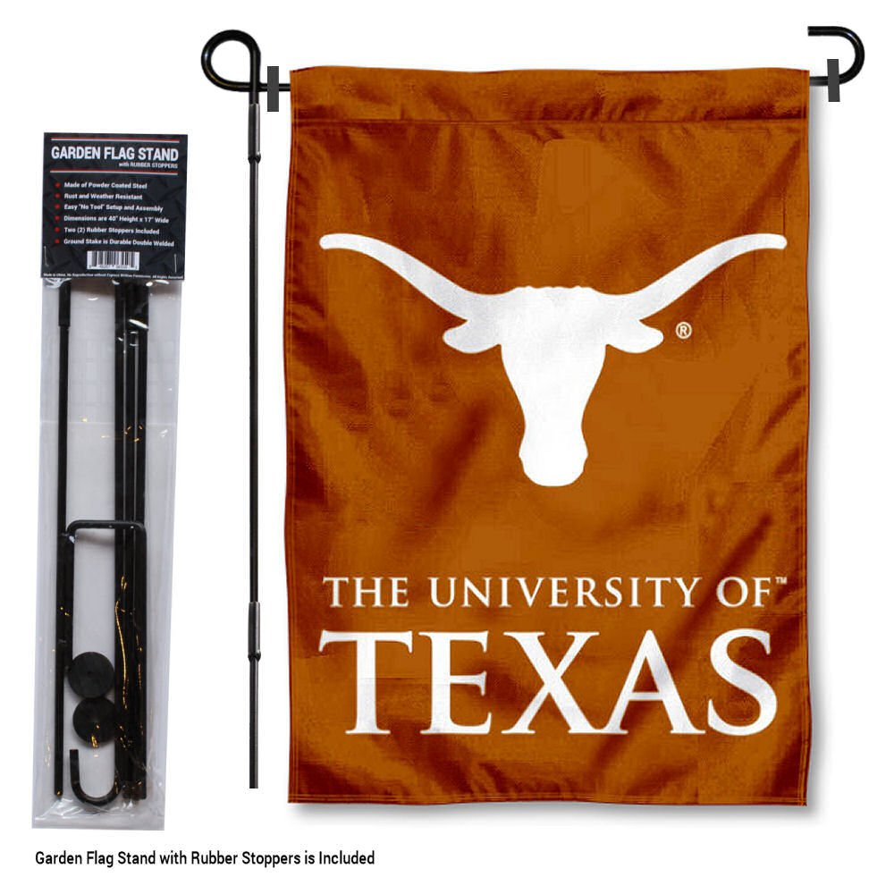 Texas Longhorns Garden Flag with Stand Holder