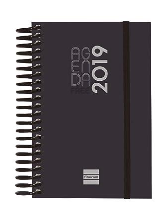 Finocam 780546019 - Agenda diaria 2019, Negro, 90 x 135 mm