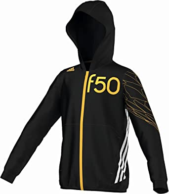 adidas F50 Junior Niños Sudadera con Capucha, M63136, Negro