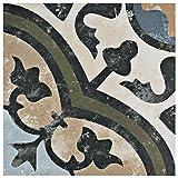 SomerTile FCD10EVC Anima Porcelain Floor & Wall Tile, 9.75'' x 9.75'', Carthusian