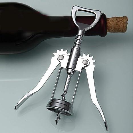 Footprintse 1 Pz Apribottiglie In Acciaio Inox Metallo Vino Cavatappi Bottiglia Maniglia Apribottiglie Cavatappi 16 x 5.5 x3.5 cm