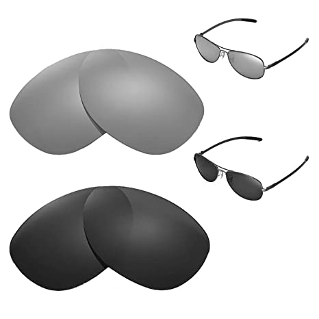 5fd076a843 Amazon.com  Walleva Polarized Titanium + Black Replacement Lenses for Ray- Ban RB8301 59mm Sunglasses  Sports   Outdoors