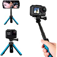 TELESIN Mini Telescopic Handheld Pole Selfie Stick Tripod Handheld Monopod for Gopro/Osmo Action/SJCAM/AKASO/Other Sports Cameras