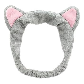 Amazon.com   SEEKO Coral Velvet Cat Ear Makeup Shower Face Washing Headband  Hairband Hair Accessories   Beauty 43a13c3b1a8