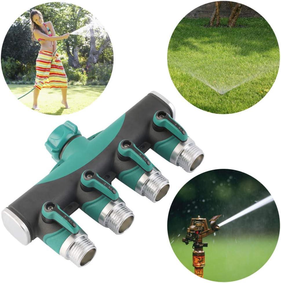 Utilizado al Aire Libre Adaptador del Grifo con Asa de Goma C/ómoda para jard/ín y hogar#1 LaceDaisy Divisor de Manguera de jard/ín de 4 v/ías