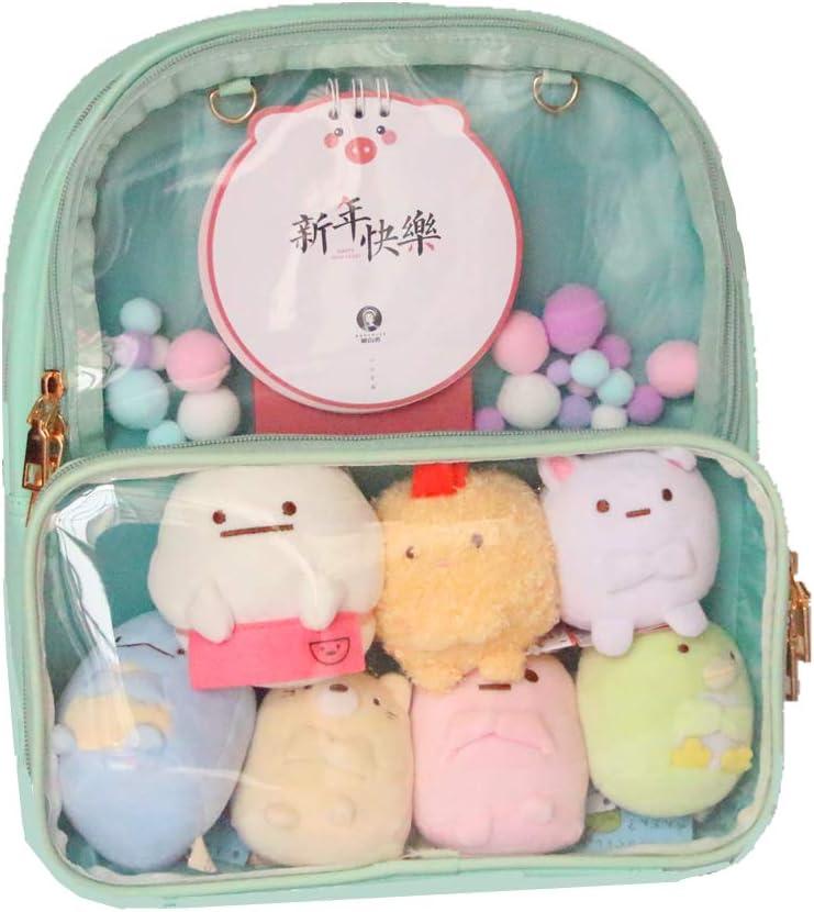 green Ita Bag Leather Backpack Transparent Itabags Anime Bag