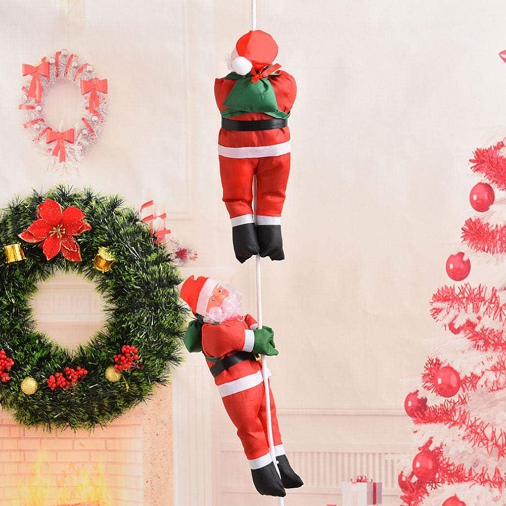 Escalera de Escalada eléctrica de Navidad de Santa Claus Ornamento Decoración Regalos: Amazon.es: Hogar