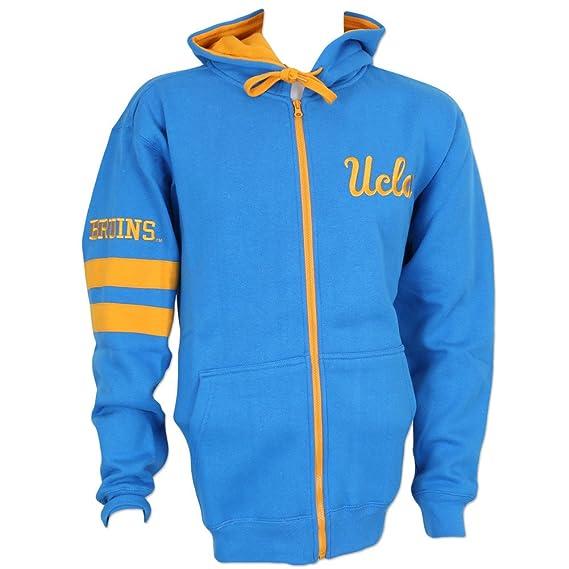 Elite Fan Shop UCLA Bruins Full Zip Hooded Sweatshirt Blue 2XL