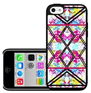 Colorful Floral and Black Tribal Print Pattern Hard Snap on Phone Case (iPhone 5c)