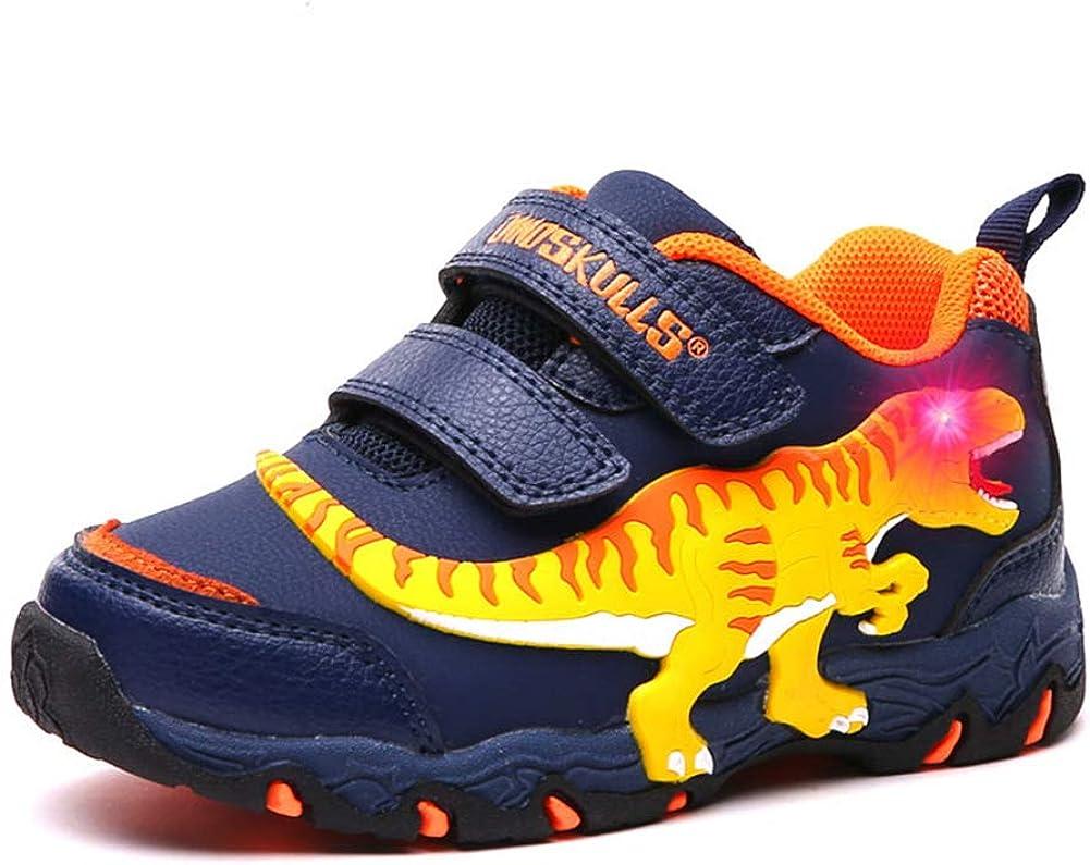 New OshKosh Dinosaur Slip on Sneakers shoes Boys Blue 5Toddler,10,12