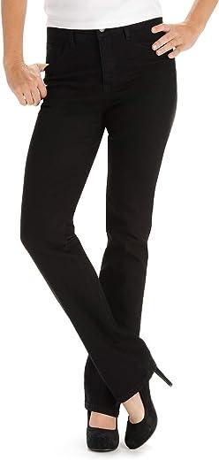 جينز نسائي طويل على الفور نحيل كلاسيكي مريح ملائم مونرو مستقيم الساق