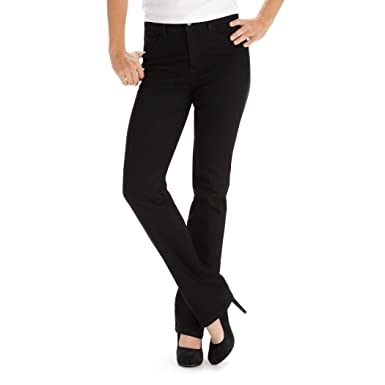 5ac0f3f0724 LEE Women s Tall Instantly Slims Classic Relaxed Fit Monroe Straight Leg  Jean