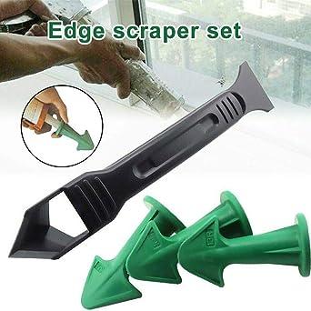3-In-1 Silicone Sealant Smooth Scraper Grout Kit Remover Tool Caulk Finishe E1P6