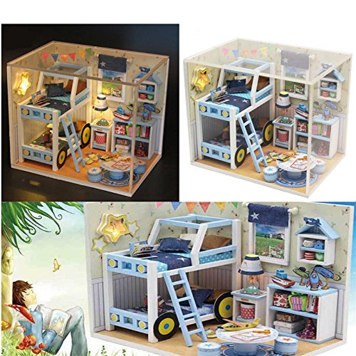 DIY Wooden Manual assembling Puzzle Model Star Story Toys For Kids Children Birthday Gift - Dolls & Stuffed Toys Doll House & Miniature - 1 X DIY Puzzle Model Toys ()