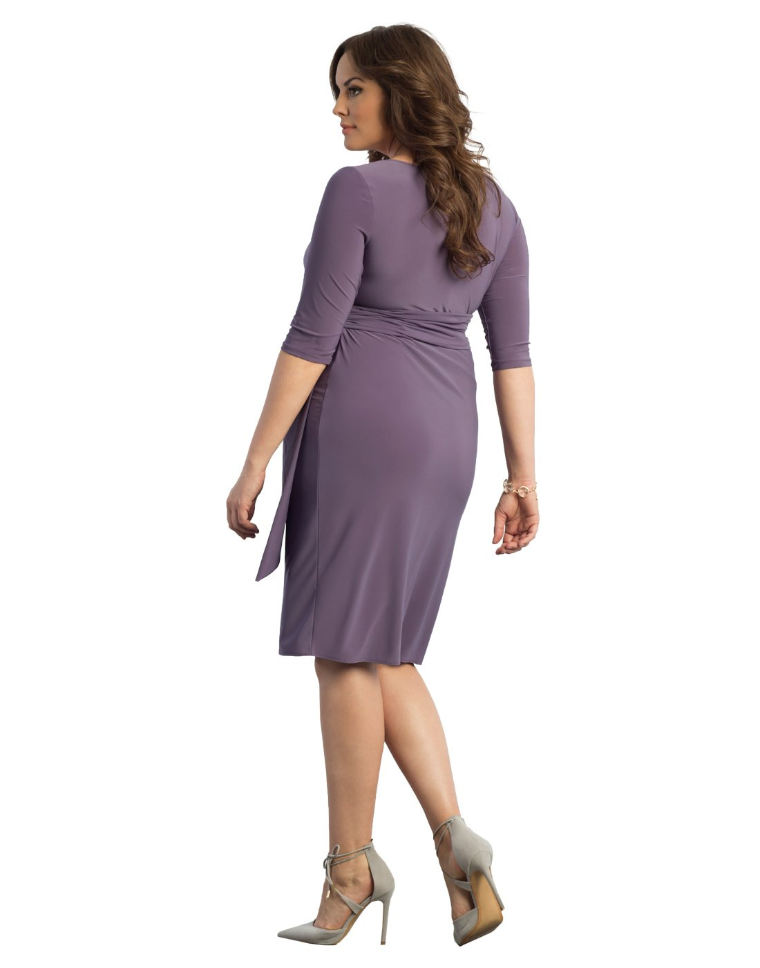 ab1a822ae894 Home/Brands/Kiyonna Dresses/Kiyonna Women's Plus Size Harlow Faux Wrap Dress  2X Lavender Fields. ; 