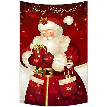 Amazon.com: Custom Merry Christmas Xmas Santa Claus Wall Art ...