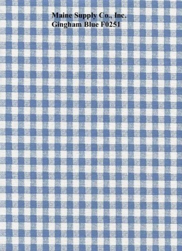 (Blue Gingham Check Series F0251 Vinyl Tablecloth 54