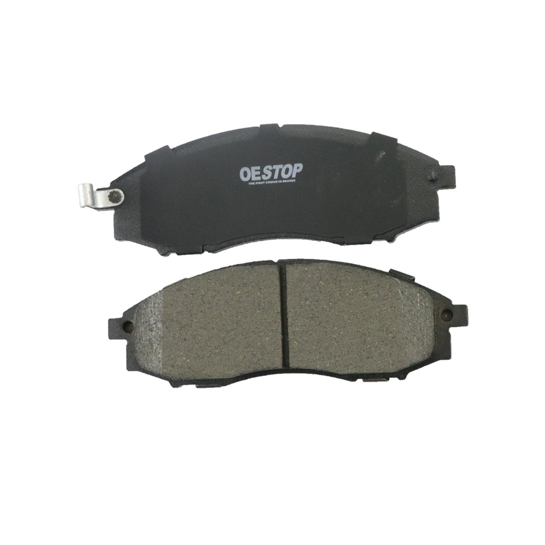 OE STOP OS830 Ceramic Premium Brake Pad Set With Installation Hardware 1 Pack Front