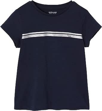 Vertbaudet - Camiseta de deporte para niña, diseño de rayas irisadas
