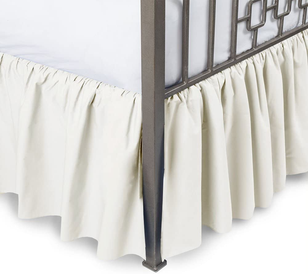 1000TC Egyptian Cotton Aqua Solid Bed Skirt Select Drop Length All US Sizes