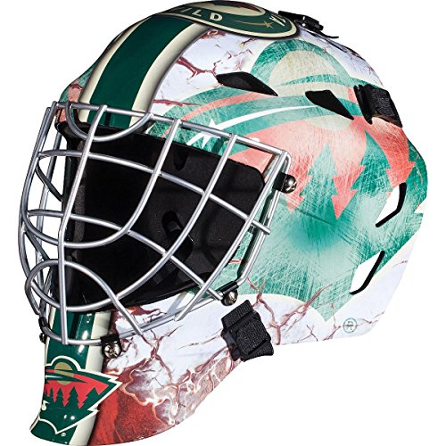 Franklin Sports Minnesota Wild Goalie Mask - Team Graphic Goalie Face Mask - GFM1500 Only for Ball & Street - NHL Official Licensed Product