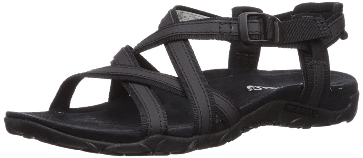 Black Merrell Women's Terran Ari Lattice Sandals
