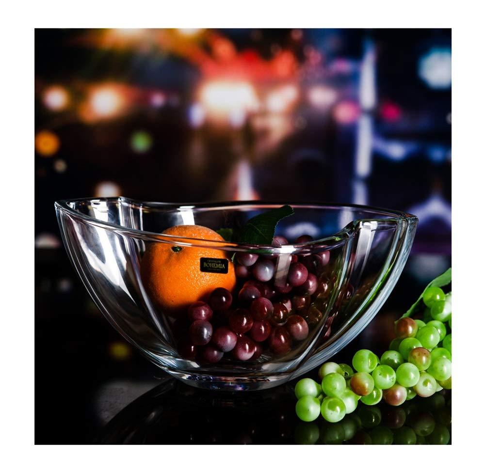 ZCYX フルーツバスケットクリスタルディッシュフルーツプレートフルーツディッシュ透明フルーツトレイComport Candy Home   B07PFDMHBB