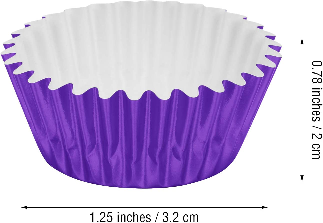 Foil Baking Cups Black Sumind 400 Pieces Mini Cupcake Cup Liners Foil Cupcake Liners for Baking Muffin and Cupcakes