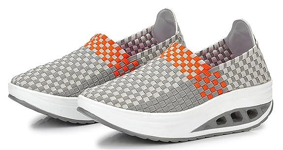 NEWZCERS scarpe fitness estate piattaforma traspirante tessere scarpa da  tennis delle donne, Grau, 39: Amazon.it: Scarpe e borse