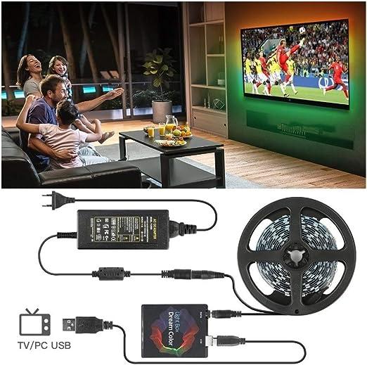 Luz tira llevada USB Ambilight,completo LED Strip Ambilight, LED Strip Lights TV PC Back Lighting, para HDTV Desktop Screen Background Lighting (Color : 3M Kit): Amazon.es: Iluminación