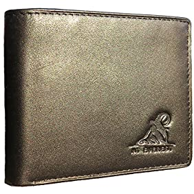 Mt. Everest RFID Blocking Trifold Bifold Mens Leather Wallet, 18 Pocket Extra Capacity, High-End Build, Gift Box for Men, Father's Day Gifts