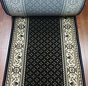 Bon 142303   Rug Depot Central Radiance 2036KW Black Traditional European Hall  And Stair Runner   26u0026quot