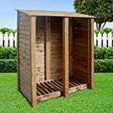 COTTESMORE 6FT WOODEN LOG STORE/GARDEN STORAGE, BROWN, HEAVY DUTY, HAND MADE, PRESSURE TREATED.