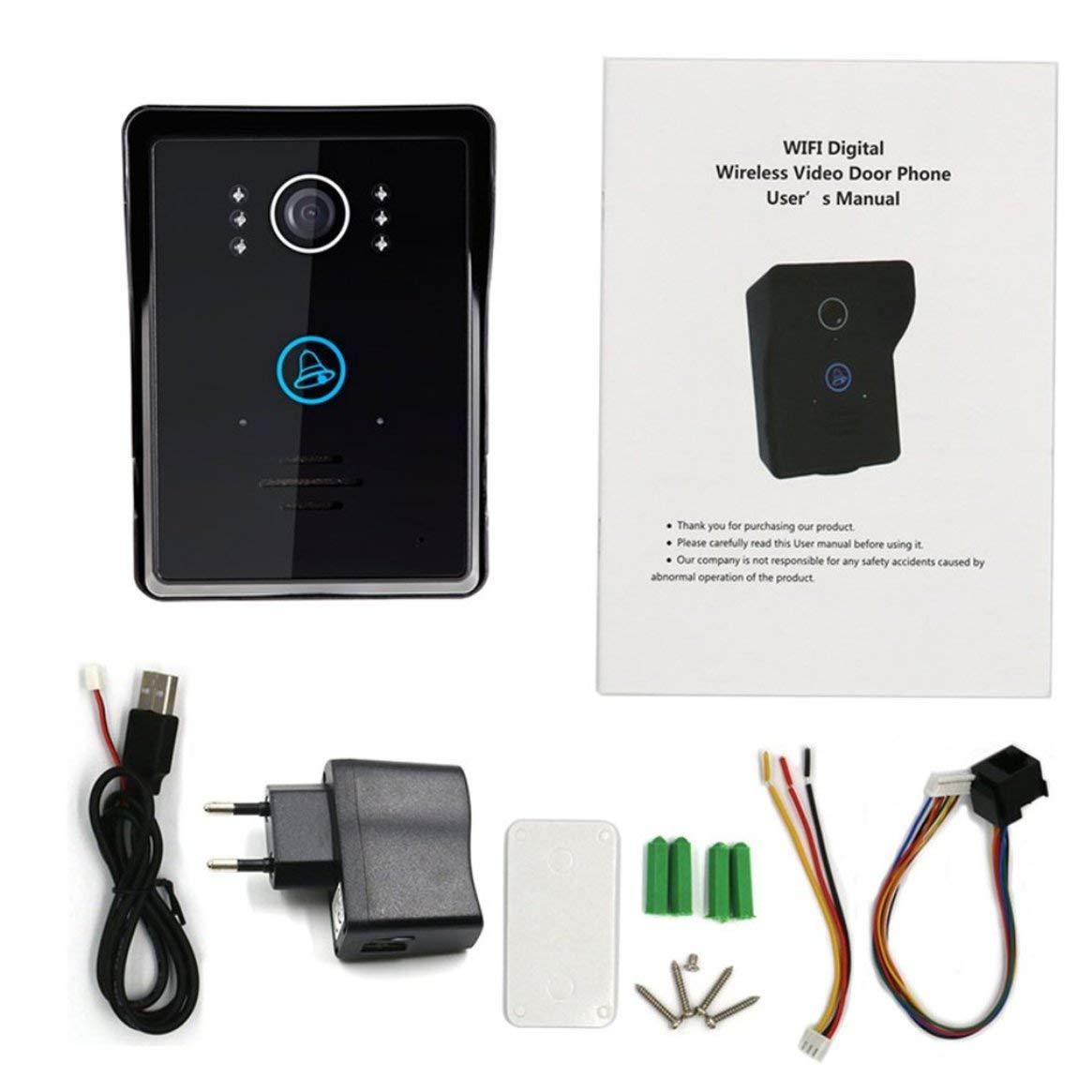 WIFI Verbindung Wireless Video Türsprechanlage IR Nachtsicht Visuelle Türklingel 140 Grad Super Weitwinkel Video Intercom