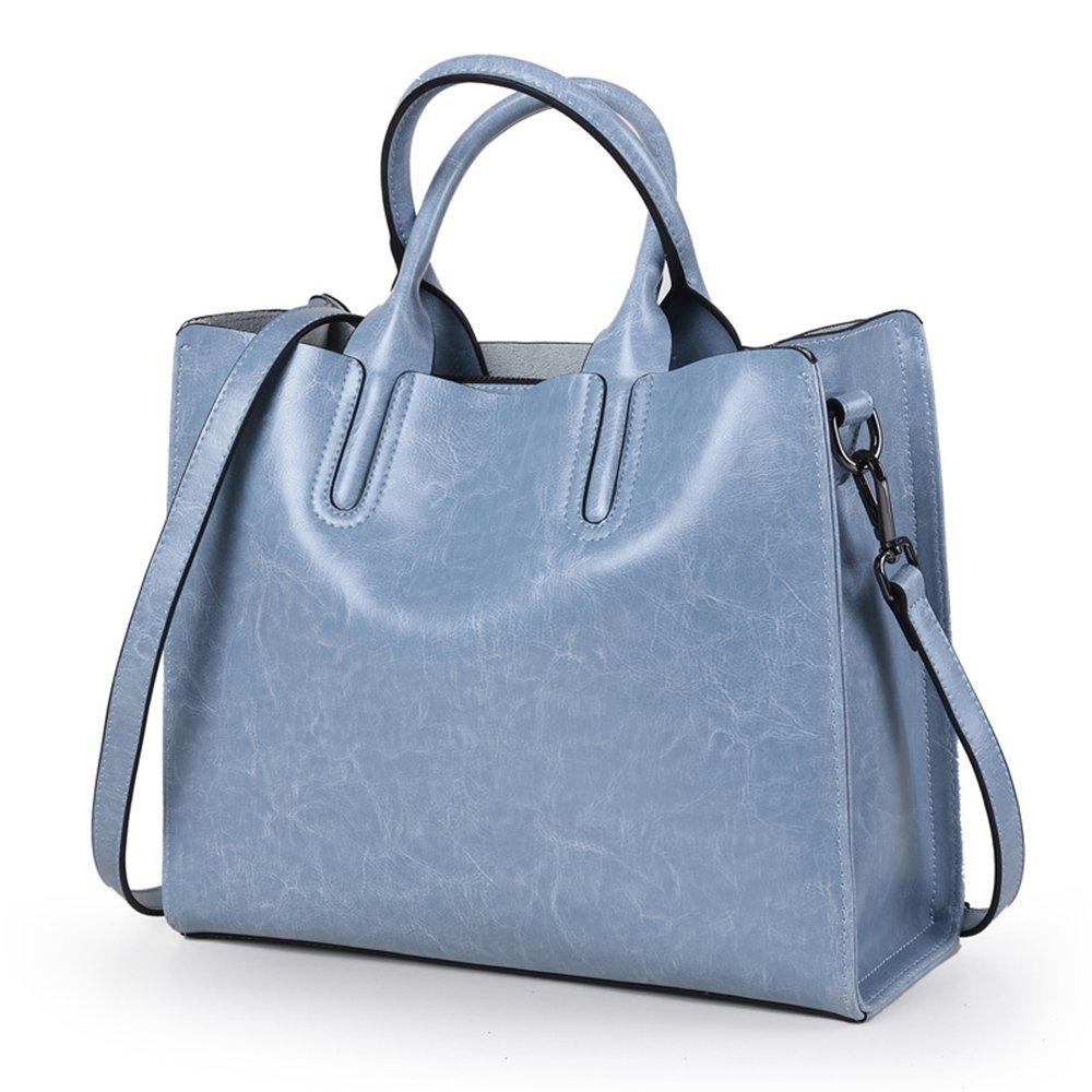 牛革 本革 トートバッグ レディース A4サイズ 大容量 3way ビジネスバッグ 通勤バッグ ハンドバッグ ショルダーバッグ 斜めがけバッグ 3WAY バッグ カバン B075L411DJ ブルー ブルー