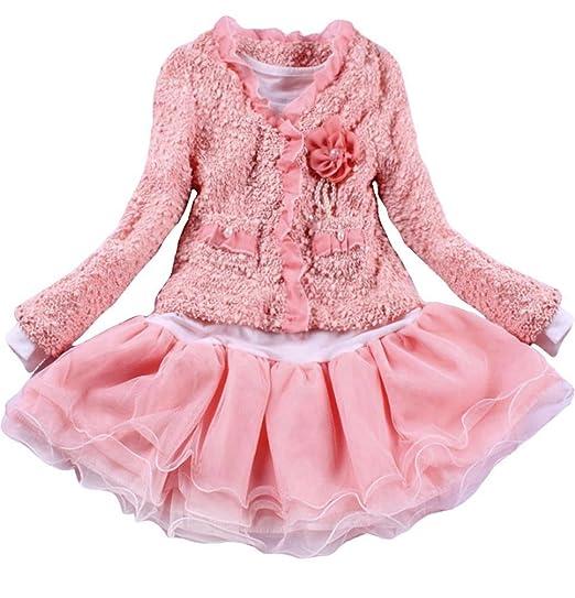 af4b8dea0c Baby Girls 2 Piece Cardigan Clothes Kids TuTu Dress Outfit Clothing 2T 1-2