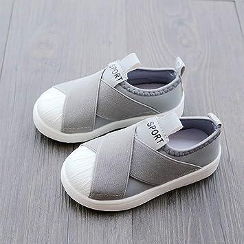Aegilmc Zapatillas de Lona para niños Zapatillas de Running de Velcro para Niños, Zapatillas de Lona con Tirantes en la Parte Inferior de Las Niñas ...