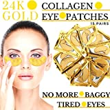 Best Eye Mask For Puffy - 24k Gold Eye Mask - with Collagen Review