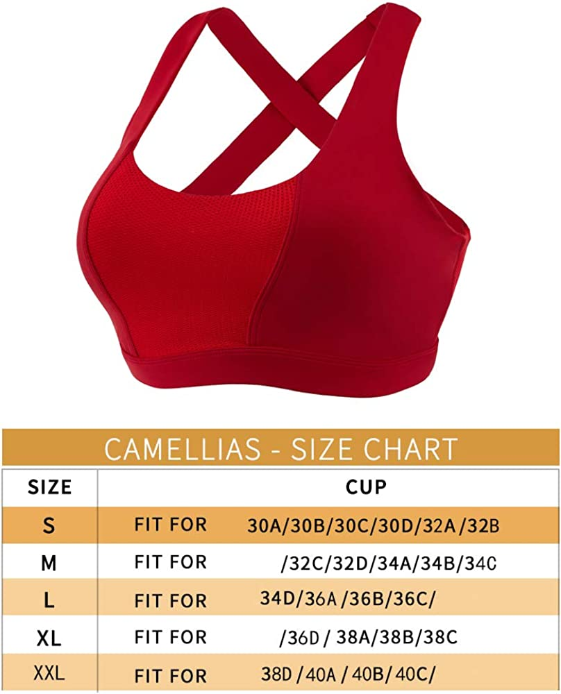 Women Sports Bra Max Supportive Mesh Tops Activewear Fitness Workout Running Yoga Bras