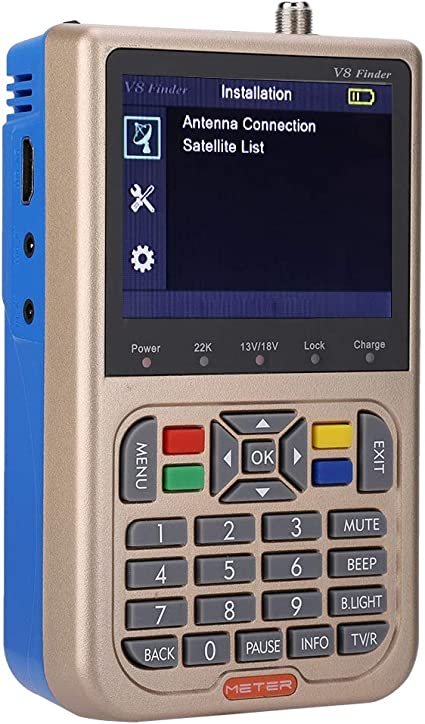 Buscador de señal de TV Digital, Mini DVB-S2 / S2X Buscador ...