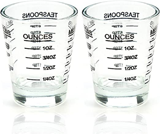 Details about  /Measuring Cup Shot Glasses Wine Multi-Purpose Black and Red line 1 Oz//30ml