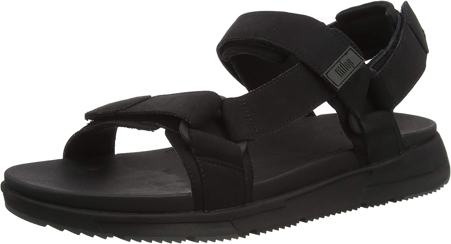 FitFlop Sporty Men's Back-Strap Sandals, Chanclas para Hombre Negro All Black 090