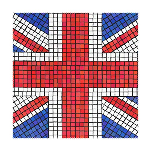 Placemats Abstract UK Flag 12x12 inch one Piece Heat Resistant Non Slip for Dinning Table (Placemats Rattan Uk)