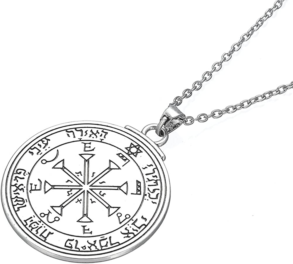 fishhook Wicca Sixth Sun Pentacle Key of Solomon for Invisibility Talisman Pendant Necklace